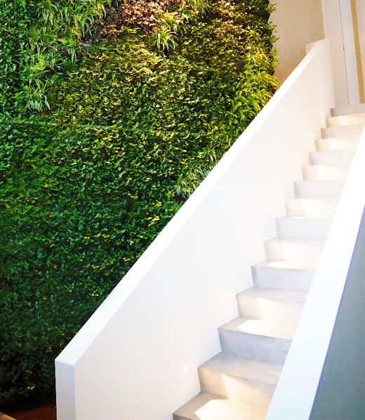 Green wall system in office block